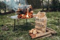 ZARELO Original nachhaltige Jutesäcke Grill- und Kaminanzünder 3 Stück